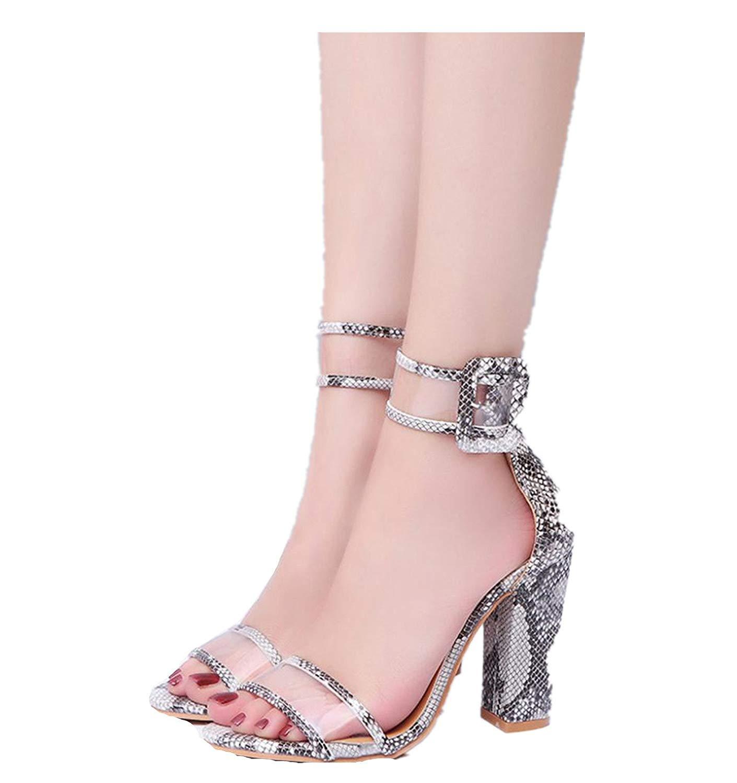 OcEaN Womens Sandals,2018 Womens Ladies Block High Heel Sandals Ankle Platforms Shoes Buckle High Heels