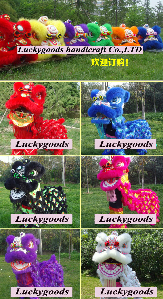 LWL004 Hot Sale Various Color Fashion New Traditional Chinese Mascot Costumes Animal Adults Year Lion Wholesale OEM Service