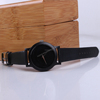 New vintage mens watch leather ,wood case leather strap watches