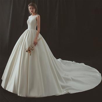 Lsmn002 Elegan Gaun Pengantin Sederhana Pengantin Kereta Pernikahan Gaun Pengantin Buy Sederhana Bride Pernikahan Gaun Elegan Gaun Pengantin Gaun