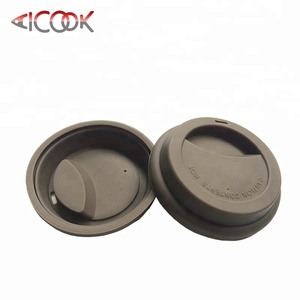 Durable heat resistant round shaped silicone coffee cup covers