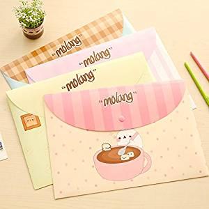 Katoot@ 12 pcs/lot Cute cartoon animal A4 paper file folder bag Kawaii waterproof document bag stationery office school supplies