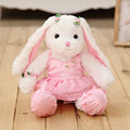 2017 New Arrival Super Cute Rabbit Soft Plush Toy Princess Lace Dress Lop Bunny Doll Baby