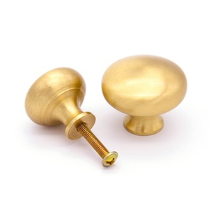 Satin brass Cabinet knob gold kitchen cabinet knob handle pull