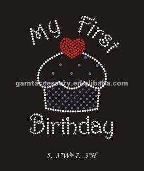 Schitterende Mijn Eerste Verjaardag Cupcake Met Diamante Kristal