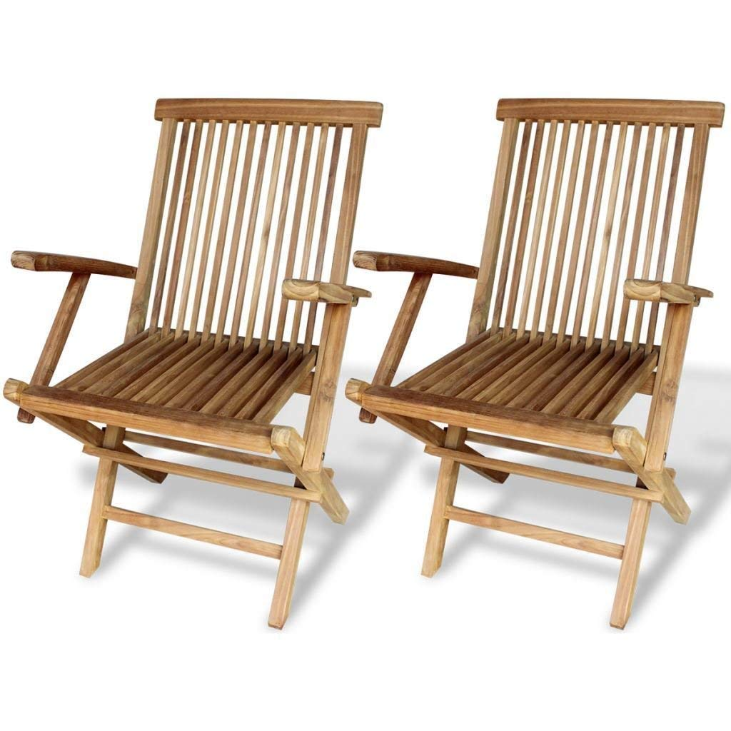 Get quotations · k top deal outdoor patio teak wood dining folding chairs patio garden furniture set of