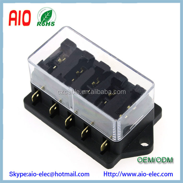 universal car truck vehicle 12v 5 way circuit automotive middle-sized blade  fuse box block holder