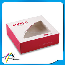 Guangzhou art paper printing 20cm folding paper box with window