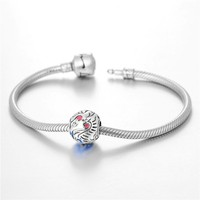 factory direct sale 925 sterling silver bangle bracelet with charms