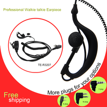 Radio Earphone Headset Earpiece Two Way Radio PTT Speaker Headset Walkie Talkie Headphone In Ear Hook Earphone Headset Earpiece