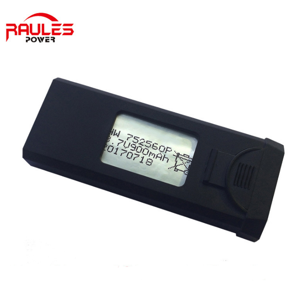 High-end 752560P 3.7v lipo battery 900mah for XS809S XS809 mini uav