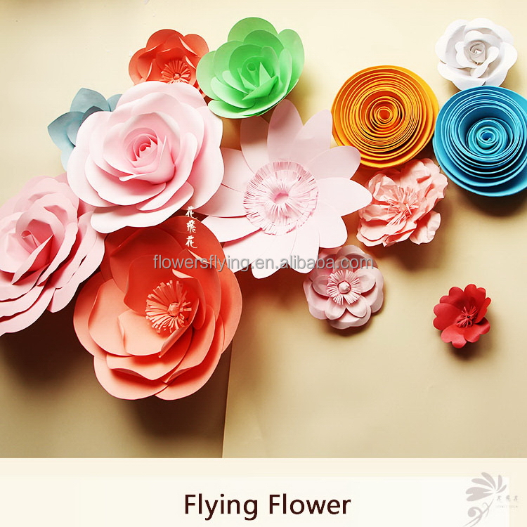 Shanghai manufacture environmental assorted paper flowers