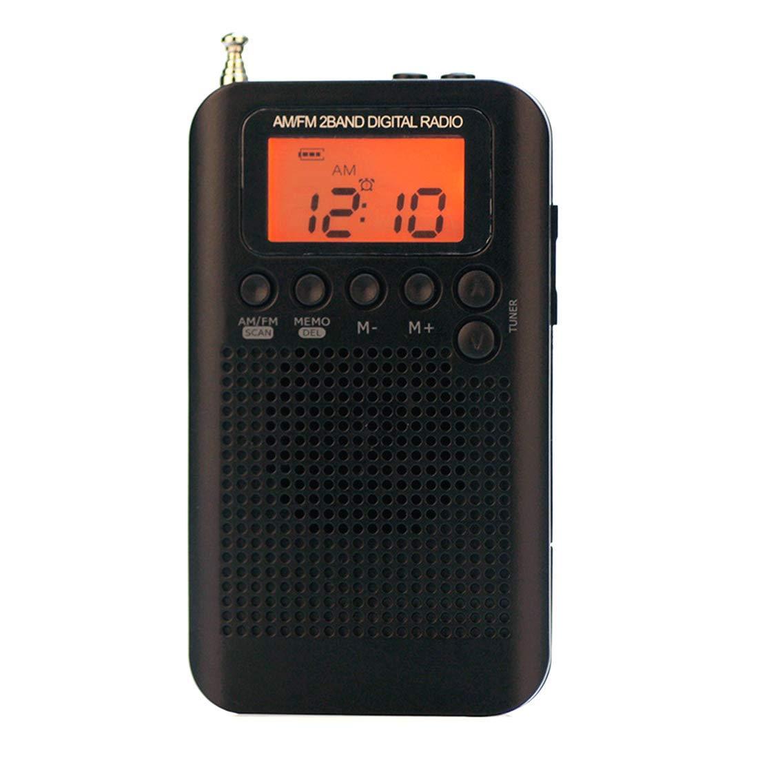 ac4e4bd614ba Get Quotations · AM/FM Portable Mini Pocket Digital Radio AM FM Switch  Personal Transistor Radio Player Built