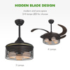 high quality 110V - 220 volt 4 acrylic blades Luxury design led ceiling fan
