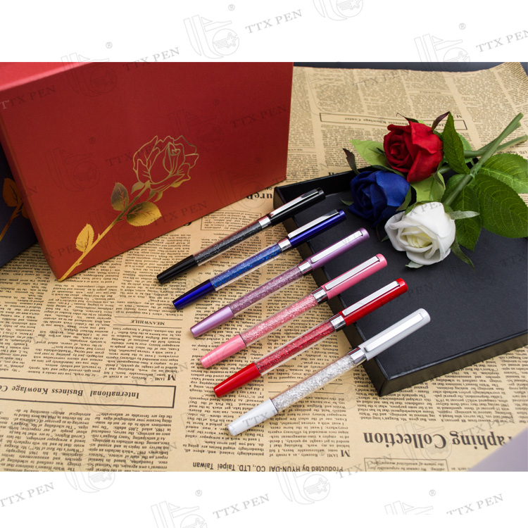 Promotional gift pen Wedding anniversary gifts pen barrel crystal
