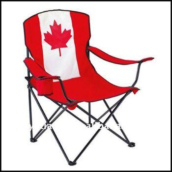 Hot Sale Canada Flag Folding Beach Chair Buy Canada Flag