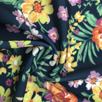 polyester smooth jersey fabric swimwear material printed knitted swim fabric