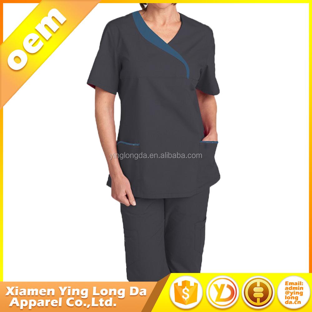 9e8f24af5 المطبوعة إمرأة الذهب رايون فرك مستشفى الملابس الطبية التمريض الدعك الطبية  بالجملة