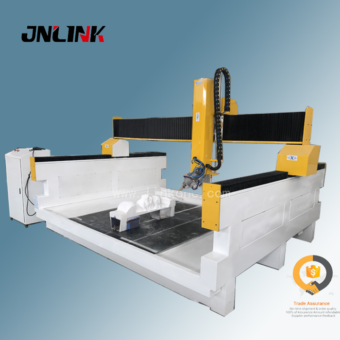 Chinese 3d Stone marble engraving CNC Router with swing head
