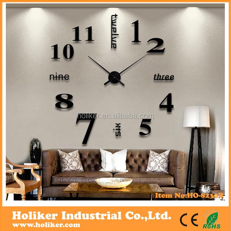 Grote luxe 3d diy klok voor huisdecoratie muur klokken product id 60136439702 - Afbeelding van huisdecoratie ...