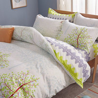 Queen/Full Reversible Printing Brushed Microfiber Duvet Cover Set