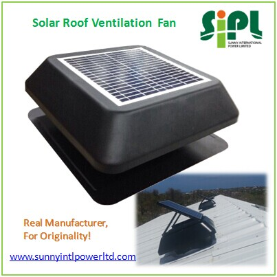 Solar Vent Fan 12 Inch Solar Powered Industrial Roof Air Exhaust ...