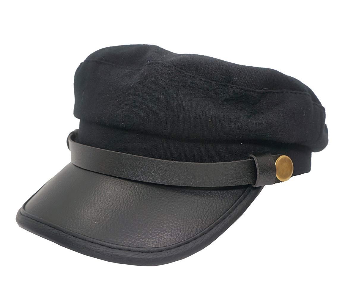 9e7a2d7c202 Get Quotations · Roffatide Unisex Adult Newsboy Cap Fiddler Hat Driver  Officer Chauffeur Cosplay Costume