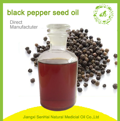 Chinese HACCP factoty wholesale pharmaceutical grade black pepper seed oils for health care products
