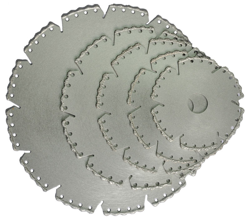 Vacuum Brazed Diamond Cutting Blade For Marble/Granite/Porcelain