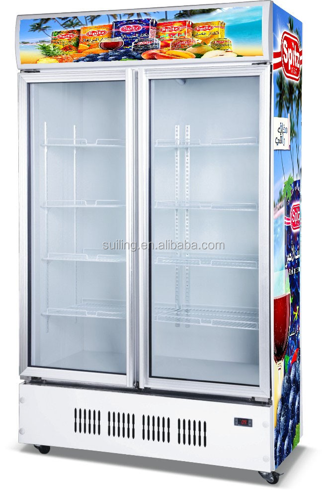 660l Lg 882m2 W Glass Door Open Display Freezer