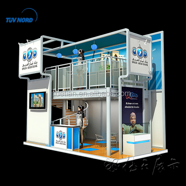 Exhibition Booth Structure : Exhibition booth double deck two floors