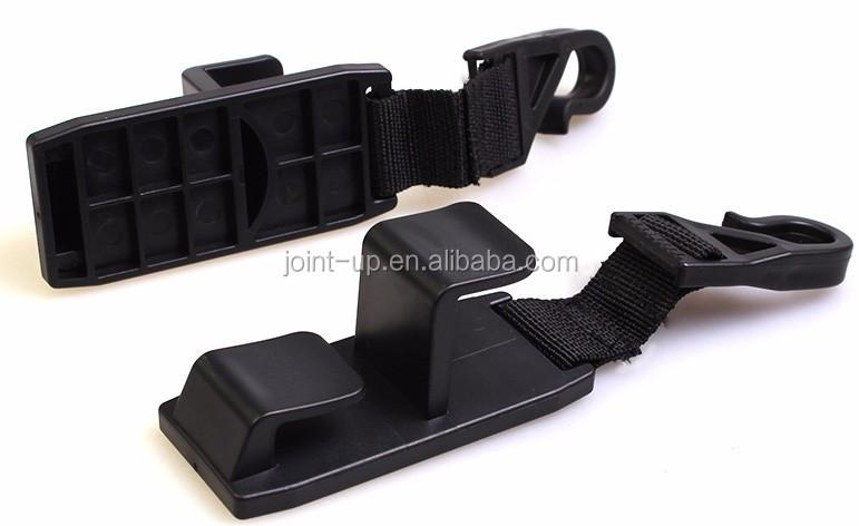Juego de 4 ganchos universales para el reposacabezas del asiento trasero del coche SUV