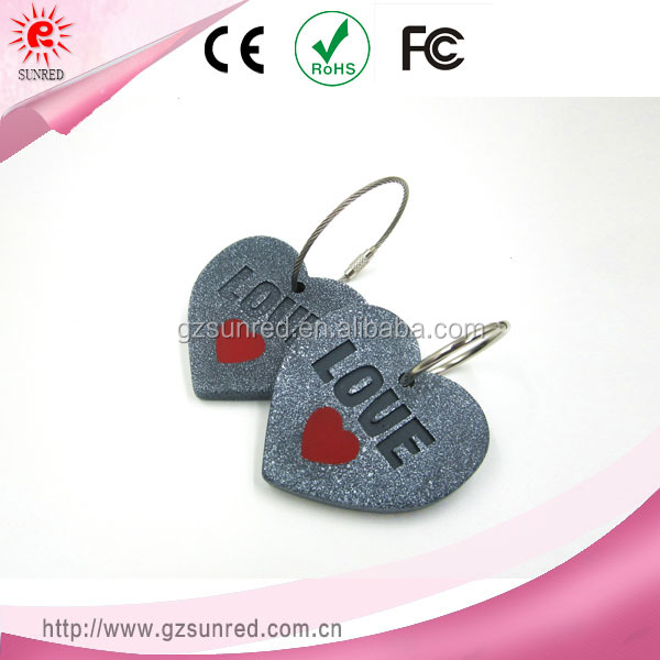 Heart Shaped Engraved Love Letters Souvenir Keychain