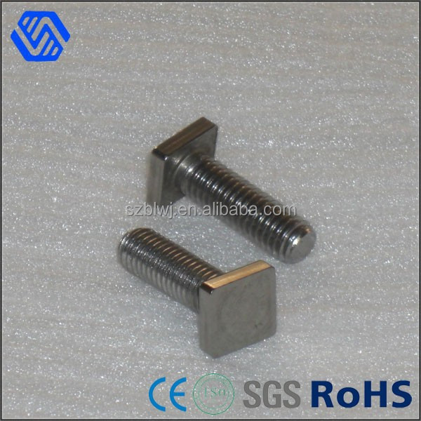 Flat head steel full thread zinc plated square bolts