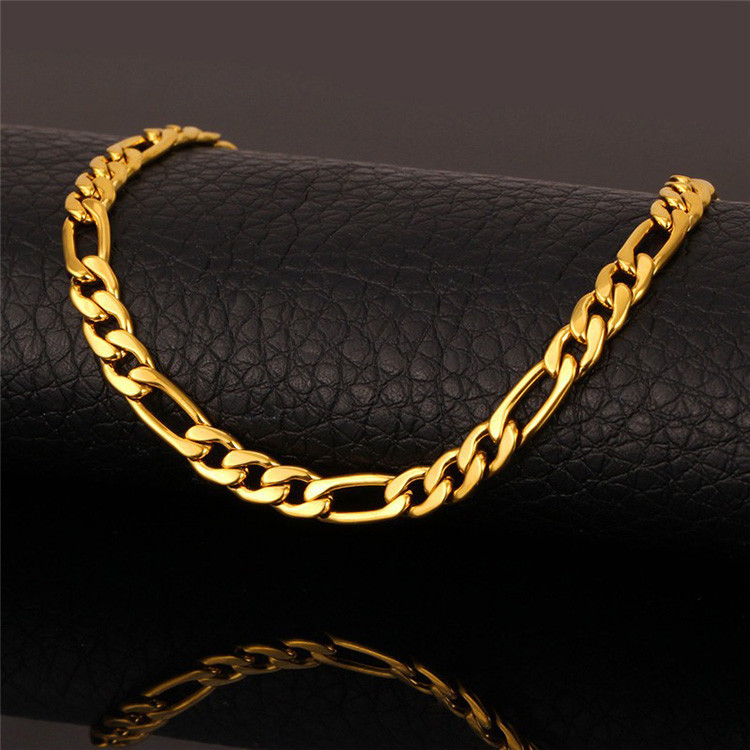 pin long for gold men real chain thick chains plated necklace new vintage brand trendy