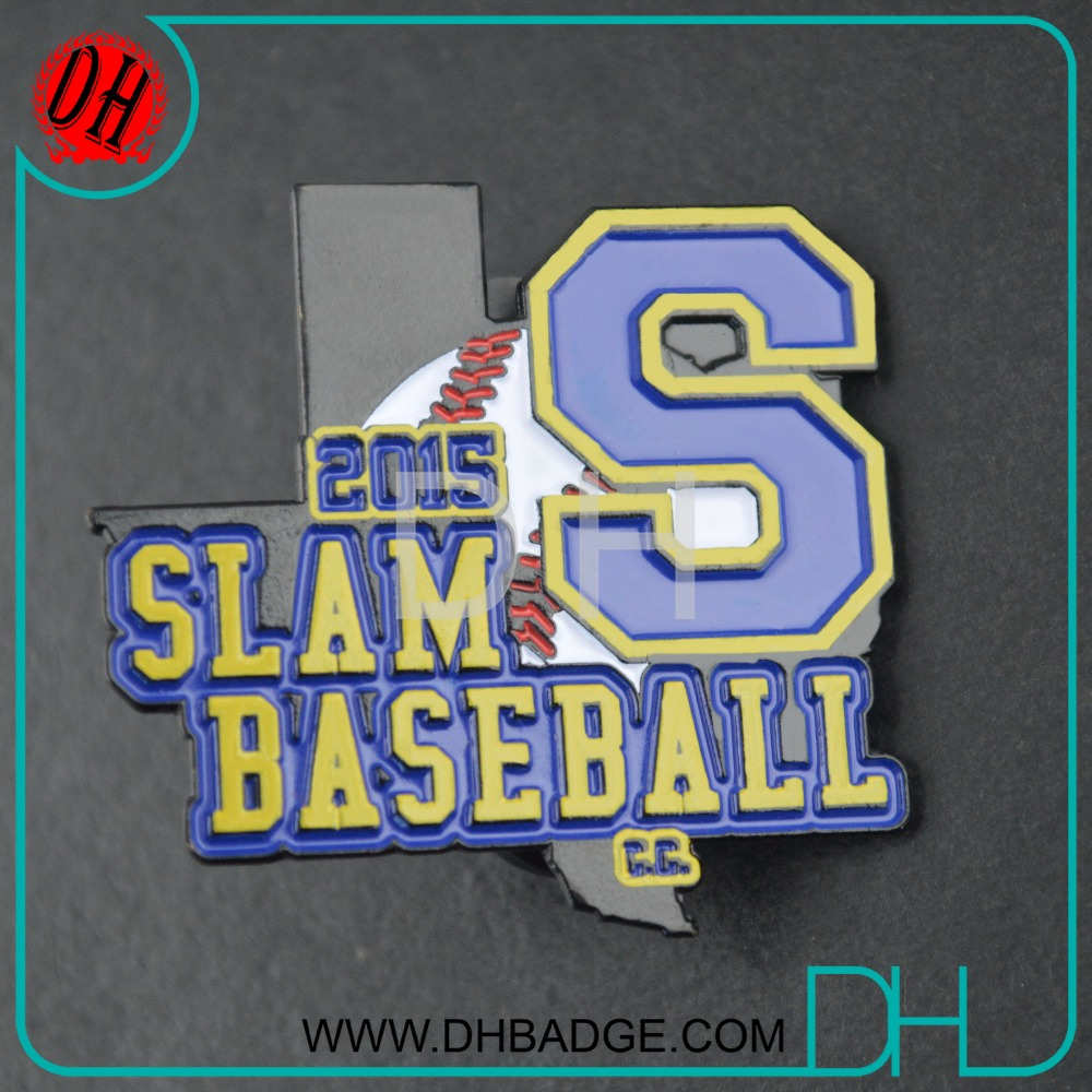 cheap factory making SLAM baseball pin for baseball sport game