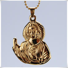 14k real gold jesus face pendant