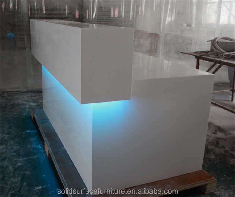 High Glossy White Modern Shop Counter Design Store
