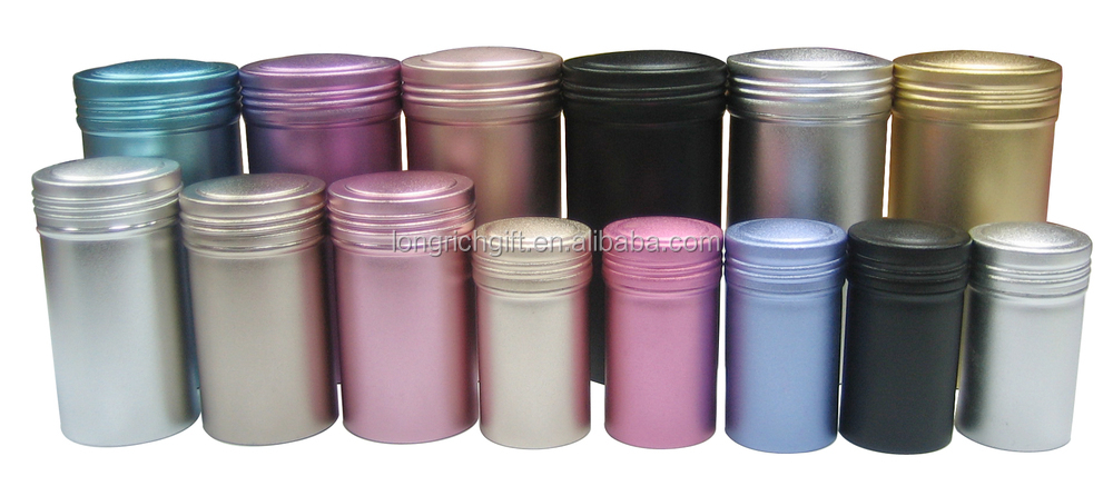 Good Quality Custom Round Aluminium Can Wholesale / Oxidation Aluminum Tea Canister