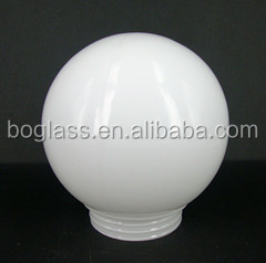 OPAL WHITE ROUND GLASS LAMP SHADE/OPAL SHINY GLASS BALL LAMP SHADE