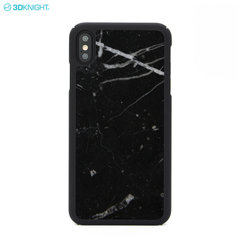Shiny Black Real Marble Design Cover Phone Case For Apple iPhone X XR XS MAX