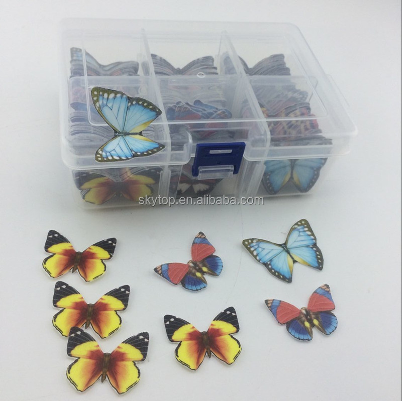 Edible Butterflies printed by edible wafer paper and edible ink