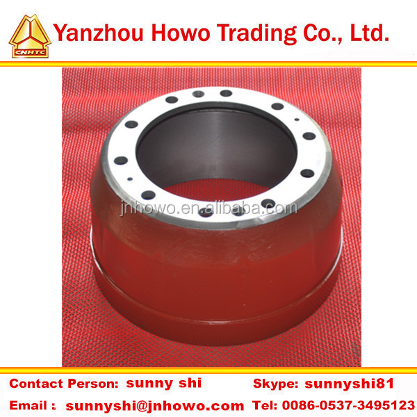 Truck parts howo brake drum for truck 199112340006