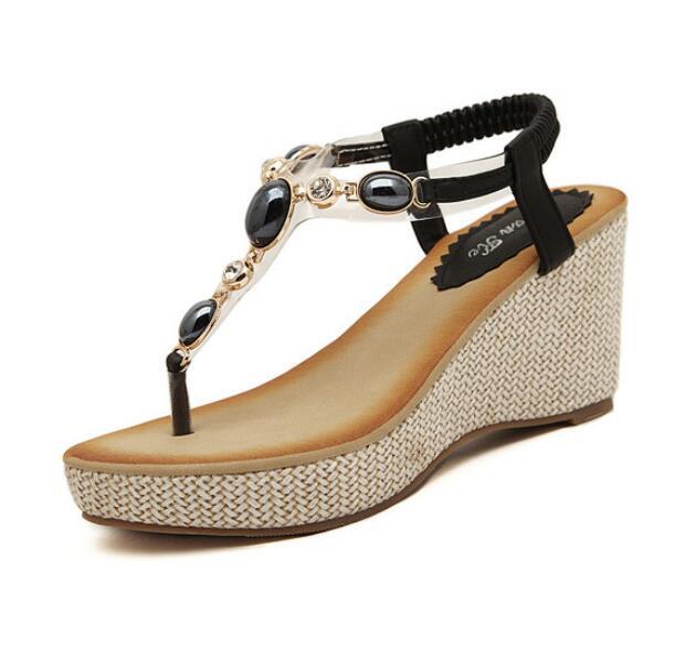 Wholesale Bohemian style Summer Wedge Sandals Women High Heels ...