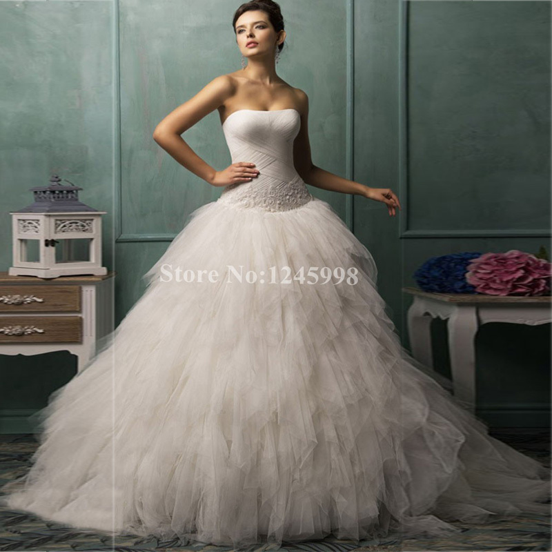 Aliexpress.com : Buy Romantic Ball Gown Wedding Dress 2015