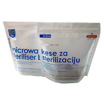 Custom Printed Microwave Steam Steriliser Bags For Baby Bottle Sterilization Bag