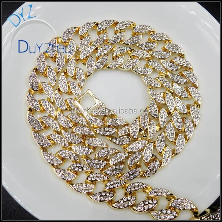 0fe0aceb5d10 Hip Hop Oro Cadenas Cubanas,Diamante De Cadena Cubana Collar - Buy Oro  Cadenas Cubanas,Diamante Cadena,Hip Hop Oro Cubano Cadena Product on ...