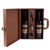 Commerical custom wine carrier for standard 2 bottles with gentlemanlike wine gift packing box