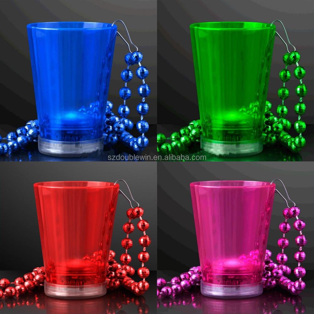 Vasos de chupito con luz intermitente activada 60/ml,/juego de 6