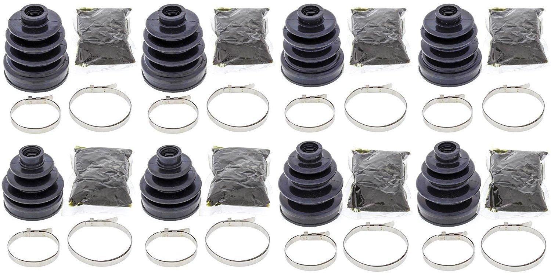 Complete Front & Rear Inner & Outer CV Boot Repair Kit for Honda TRX680 Rincon 2008-2009 All Balls